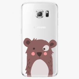 Plastový kryt iSaprio - Brown Bear - Samsung Galaxy S6 Edge Plus