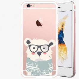 Plastový kryt iSaprio - Bear With Scarf - iPhone 6 Plus/6S Plus - Rose Gold