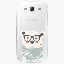 Plastový kryt iSaprio - Bear With Scarf - Samsung Galaxy S3
