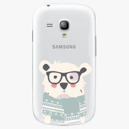 Plastový kryt iSaprio - Bear With Scarf - Samsung Galaxy S3 Mini