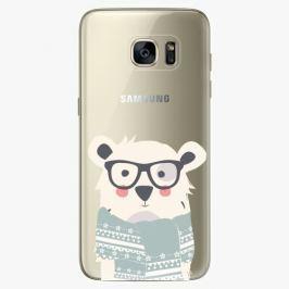Plastový kryt iSaprio - Bear With Scarf - Samsung Galaxy S7 Edge