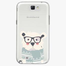 Plastový kryt iSaprio - Bear With Scarf - Samsung Galaxy Note 2