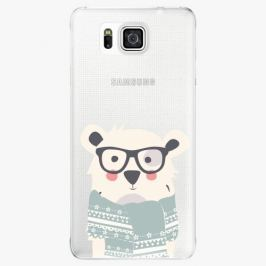 Plastový kryt iSaprio - Bear With Scarf - Samsung Galaxy Alpha