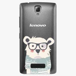Plastový kryt iSaprio - Bear With Scarf - Lenovo A2010