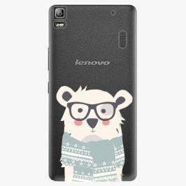 Plastový kryt iSaprio - Bear With Scarf - Lenovo A7000