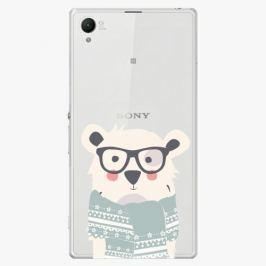 Plastový kryt iSaprio - Bear With Scarf - Sony Xperia Z1