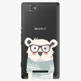 Plastový kryt iSaprio - Bear With Scarf - Sony Xperia M