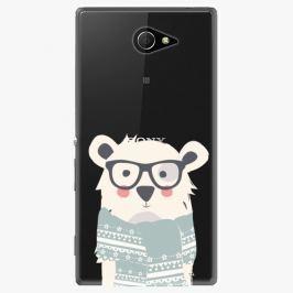 Plastový kryt iSaprio - Bear With Scarf - Sony Xperia M2