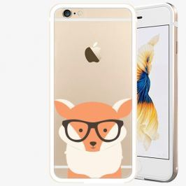 Plastový kryt iSaprio - Orange Fox - iPhone 6/6S - Gold