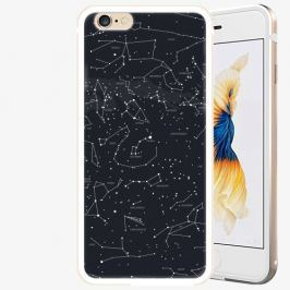 Plastový kryt iSaprio - Night Sky 01 - iPhone 6/6S - Gold