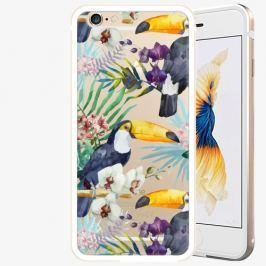 Plastový kryt iSaprio - Tucan Pattern 01 - iPhone 6 Plus/6S Plus - Gold