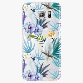 Plastový kryt iSaprio - Parrot Pattern 01 - Samsung Galaxy S6 Edge