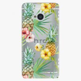Plastový kryt iSaprio - Pineapple Pattern 02 - HTC One M7