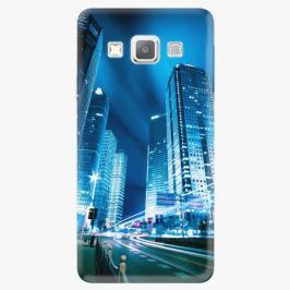 Plastový kryt iSaprio - Night City Blue - Samsung Galaxy A7