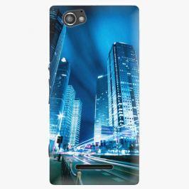 Plastový kryt iSaprio - Night City Blue - Sony Xperia M