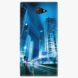 Plastový kryt iSaprio - Night City Blue - Sony Xperia M2
