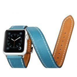 Kožený pásek / řemínek Baseus Sunlord pro Apple Watch 42mm modrý