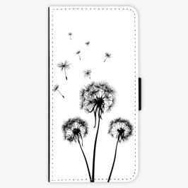 Flipové pouzdro iSaprio - Three Dandelions - black - Samsung Galaxy A3 2016