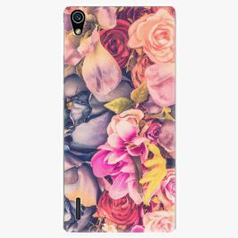 Plastový kryt iSaprio - Beauty Flowers - Huawei Ascend P7